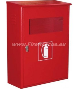 FIRE EXTINGUISHER SMART CABINET FOR TWO 4-6 KG/L WITH CLOSING PIN